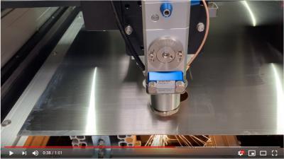 CLB-150F Резка нержавеющей стали толщиной 1 мм